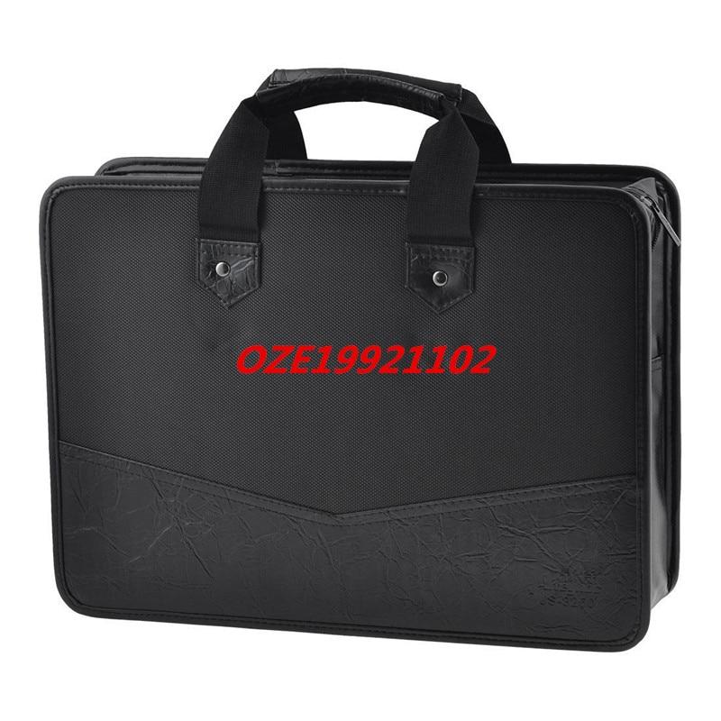 [해외]1PCS 39cm x 28.5cm 3 Pockets Zip Up Nylon Faux Leather File Documents Bag Holder/1PCS 39cm x 28.5cm 3 Pockets Zip Up Nylon Faux Leather File Docum