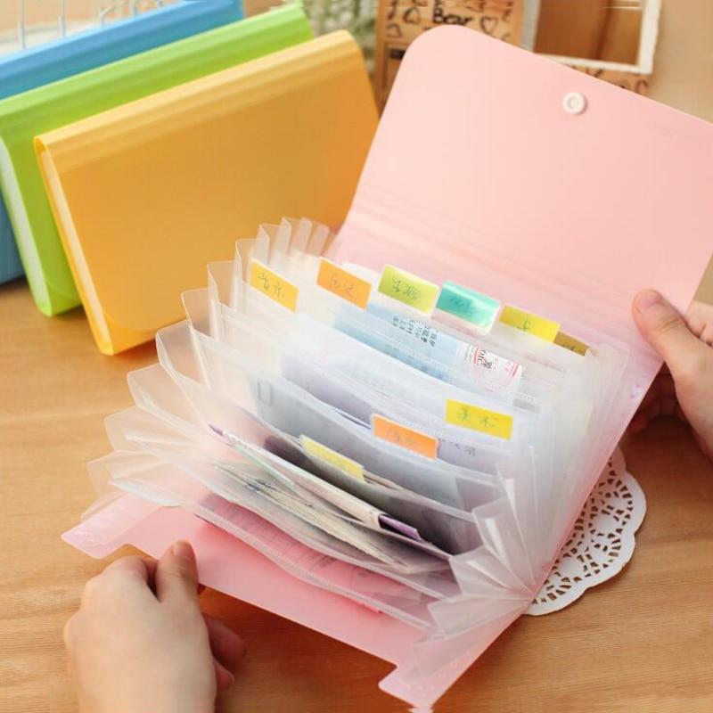 [해외]Plastic Candy Color A6 File Folder Small Document Bags Expanding Wallet Bill Folders for Documents Wholesale/Plastic Candy Color A6 File Folder Sm