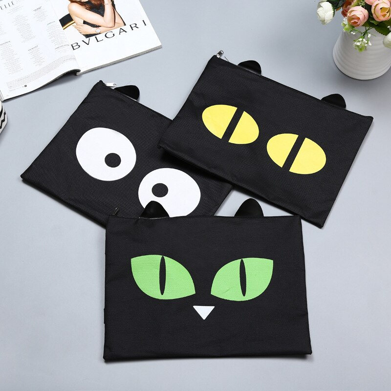 [해외]expression animation cartoon creative portable zipper A4 envelope/expression animation cartoon creative portable zipper A4 envelope
