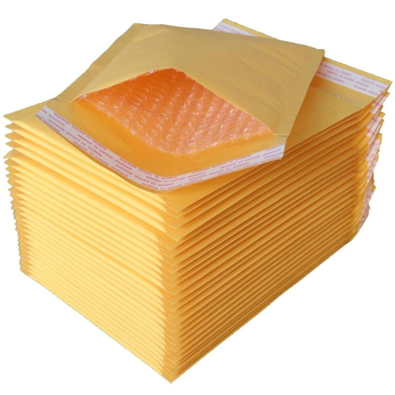 [해외]18*23 cm 50 pcs 크래프트 종이 거품 채우기 봉투 폴 리 메일러 크 라프 트 종이 거품 포장 봉투 메일 가방 두꺼운 가방 경량/18*23 cm 50 pcs 크래프트 종이 거품 채우기 봉투 폴 리 메일러 크 라프 트 종이 거품 포장 봉