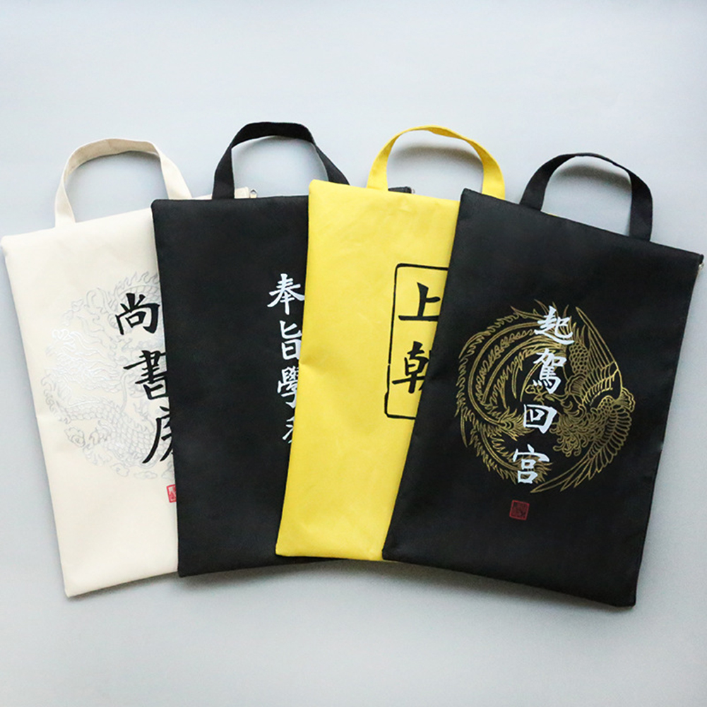 [해외]Chinese Text Print Funny Tote Zipper Briefcase A4 File Folder Document Bag Pouch/Chinese Text Print Funny Tote Zipper Briefcase A4 File Folder Doc