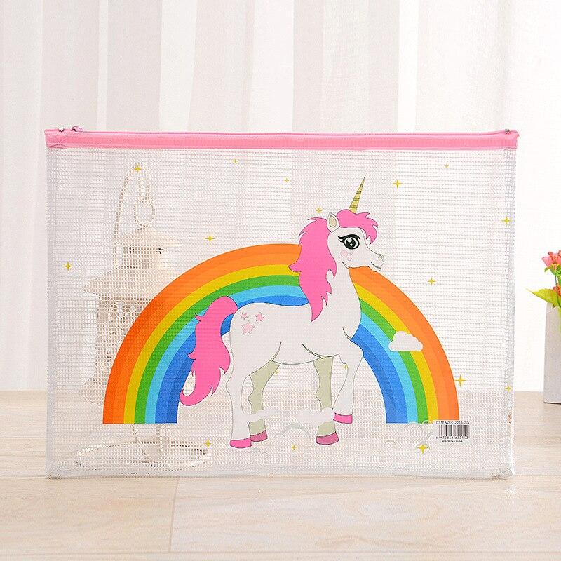 [해외]24 pcs/lot Unicorn Rainbow A5 File Bag Document Bag File Folder Stationery Filing Production/24 pcs/lot Unicorn Rainbow A5 File Bag Document Bag F