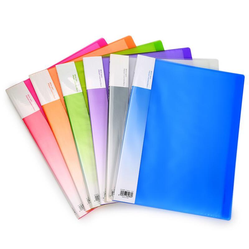 [해외]New Information Booklet Folder A4 Pagination Multilayer Score Paper Inserts Folder 80 pages A4 Paper Expanding File Folder Safe/New Information Bo