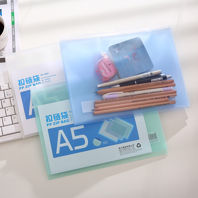 [해외]20pcs/lot Deli Office Documento Bag Waterproof Nature Statioenry Folder 3 Colours School Supplies File Folder/20pcs/lot Deli Office Documento Bag