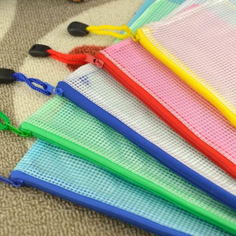[해외] ,200PC Waterproof Gridding Zipper Bag Document Pen Filing Products Pocket Folder Office & School Supplies/ ,200PC Waterproof Gridding Zipper