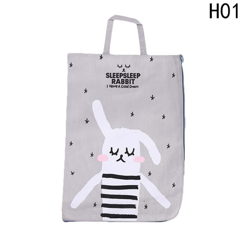 [해외]4 Styles Kawaii Cartoon Rabbit Canvas File Document Filing Bag Stationery Bag Promotional Gift Stationery New Gifts/4 Styles Kawaii Cartoon Rabbit