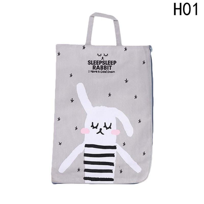[해외]4 Styles Kawaii Cartoon Rabbit Canvas File Document Filing Bag Stationery Bag Promotional Gift Stationery New Gifts/4 Styles Kawaii Cartoon Rabbit