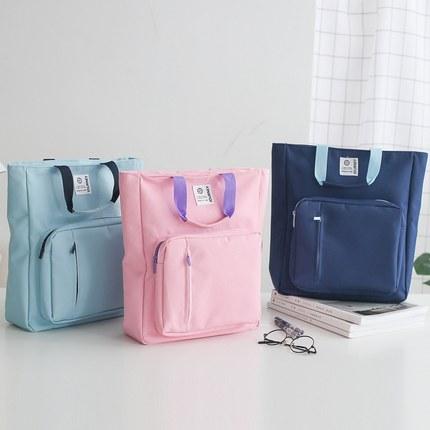 [해외]Outdoor Portable Document Bag Multifuncitonal Zipper Bag Canvas Cloth A4 Paper Organizer File Bag Book Carry Bag/Outdoor Portable Document Bag Mul