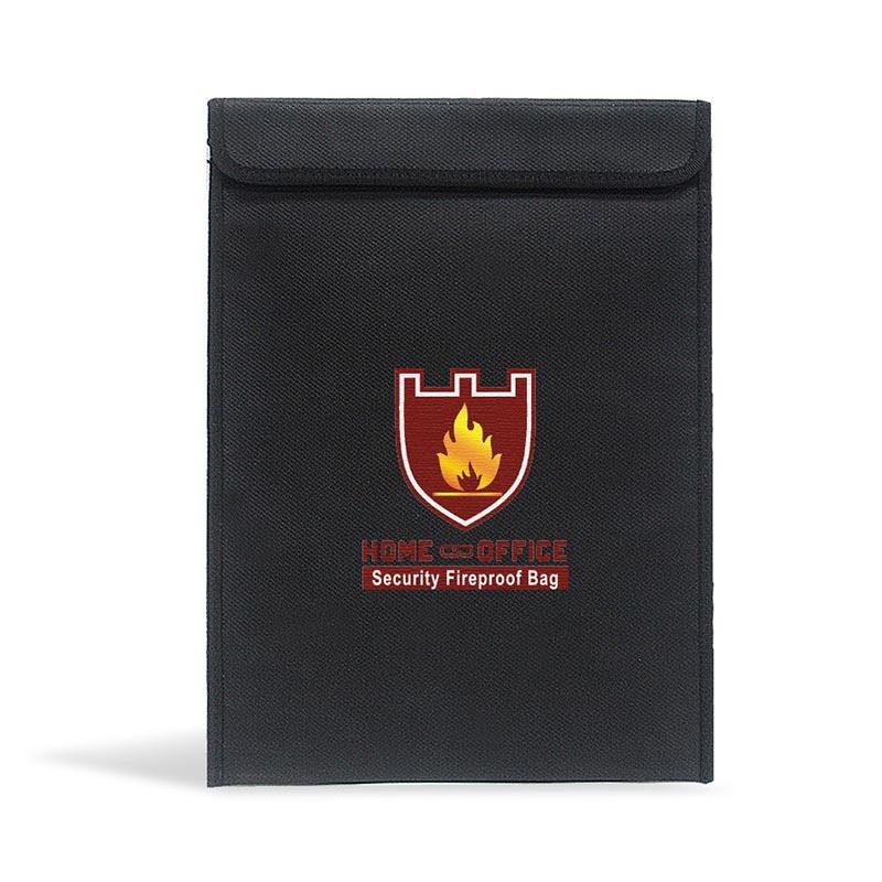 [해외]Safe Fireproof Money Document File Bag Pouch Cash Bank Cards Passport Valuables Organizer Holder Storage for Home Office Paper/Safe Fireproof Mone