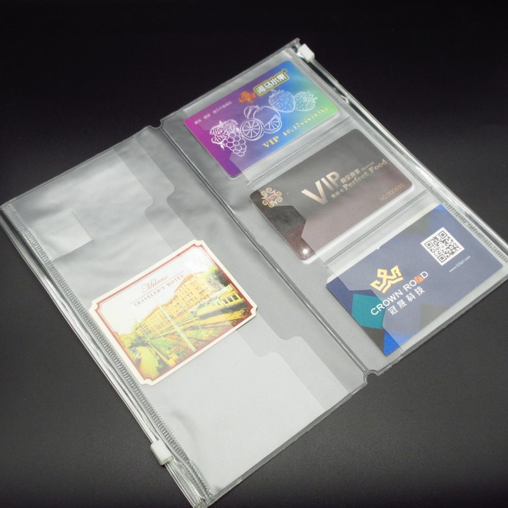 [해외]표준 midori 여행자의 노트북을위한 pvc 지퍼 포켓 투명 pvc pocker 향상된 스타일 210x228mm 파일 폴더/표준 midori 여행자의 노트북을위한 pvc 지퍼 포켓 투명 pvc pocker 향상된 스타일 210x228mm 파일