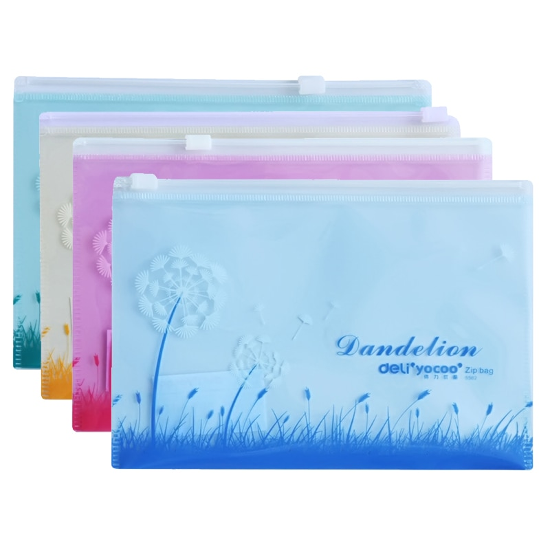 [해외]/50pcs/lot Pull edge file bag A4 antibacterial cartoon color document classified storage stationery file holder