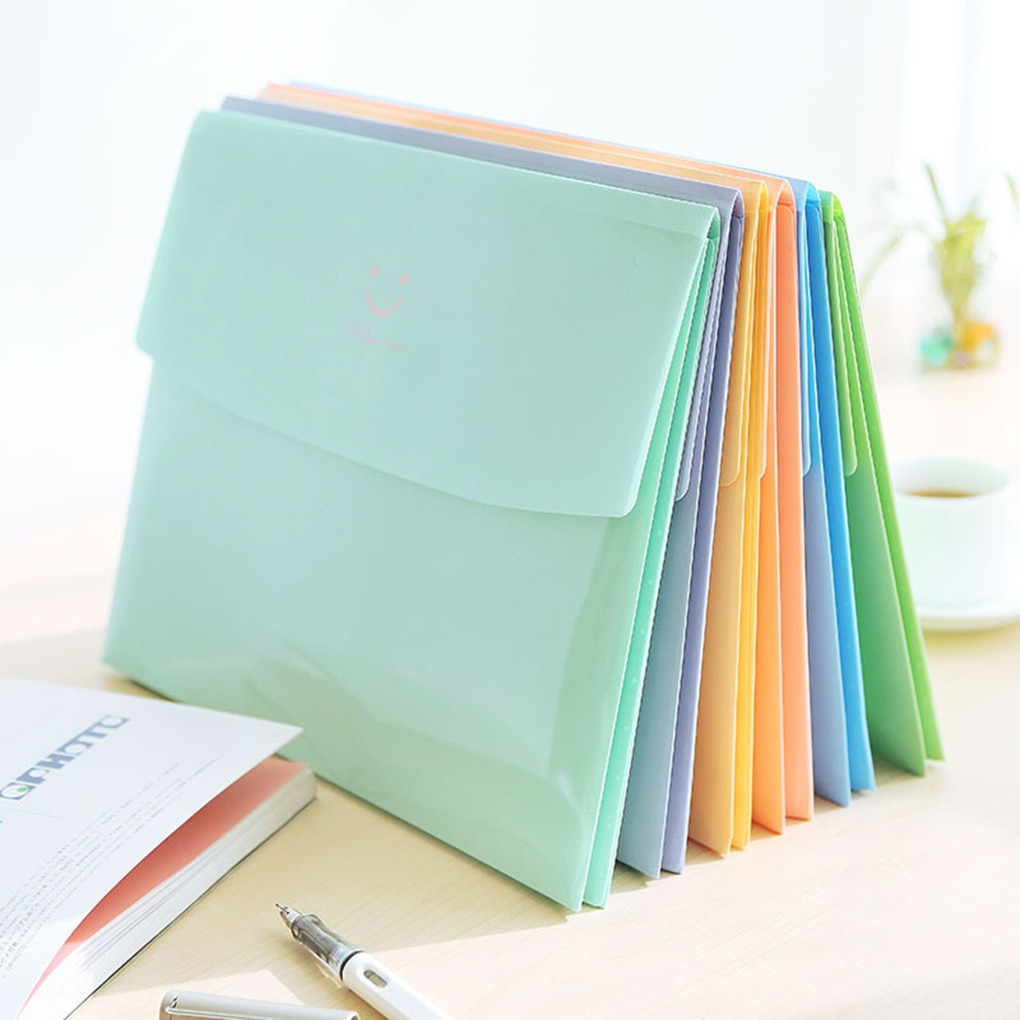 [해외]/Envelope Type Document Bag Small File Holder Folder Reusable Plastic Billfold a4 School stationery
