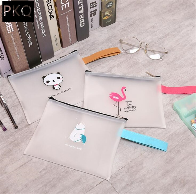 [해외]/1Pcs Creative Cute Fat Animal A4 Transparent File Bag Document BagHandle File Folder Stationery Filing Production Supplies