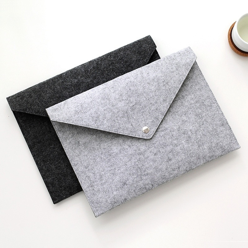 [해외]/2pcs Hair Felt A4 Folder High-grade Felt Bag File Bag Document Bag  Folders