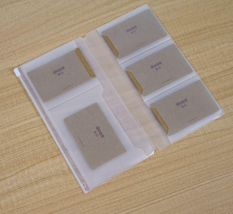 [해외]Midori Traveler`s Notebook Pocker Zipper Bag Transparent  EVA for Card Receipt Money Passport/Midori Traveler`s Notebook Pocker Zipper Bag Transpa