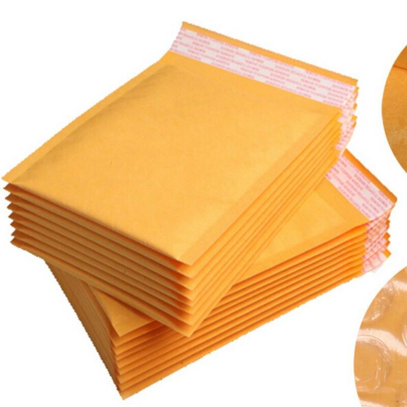 [해외]15*18CM 60Pcs Yellow Kraft Poly Bubble Padded Envelope Poly Mailer Craft Paper Shipping Pad Envelope Mailing BagThicker Bags/15*18CM 60Pcs Yellow