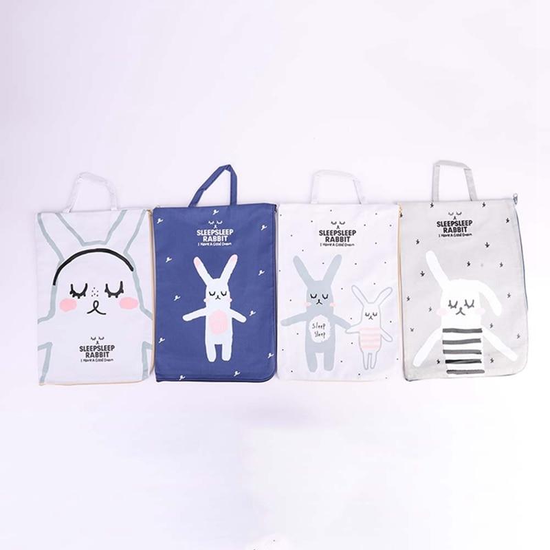 [해외]Kawaii Cartoon  Rabbit Canvas File Document Filing Bag Stationery Bag Promotional Gift Stationery/Kawaii Cartoon  Rabbit Canvas File Document Fili