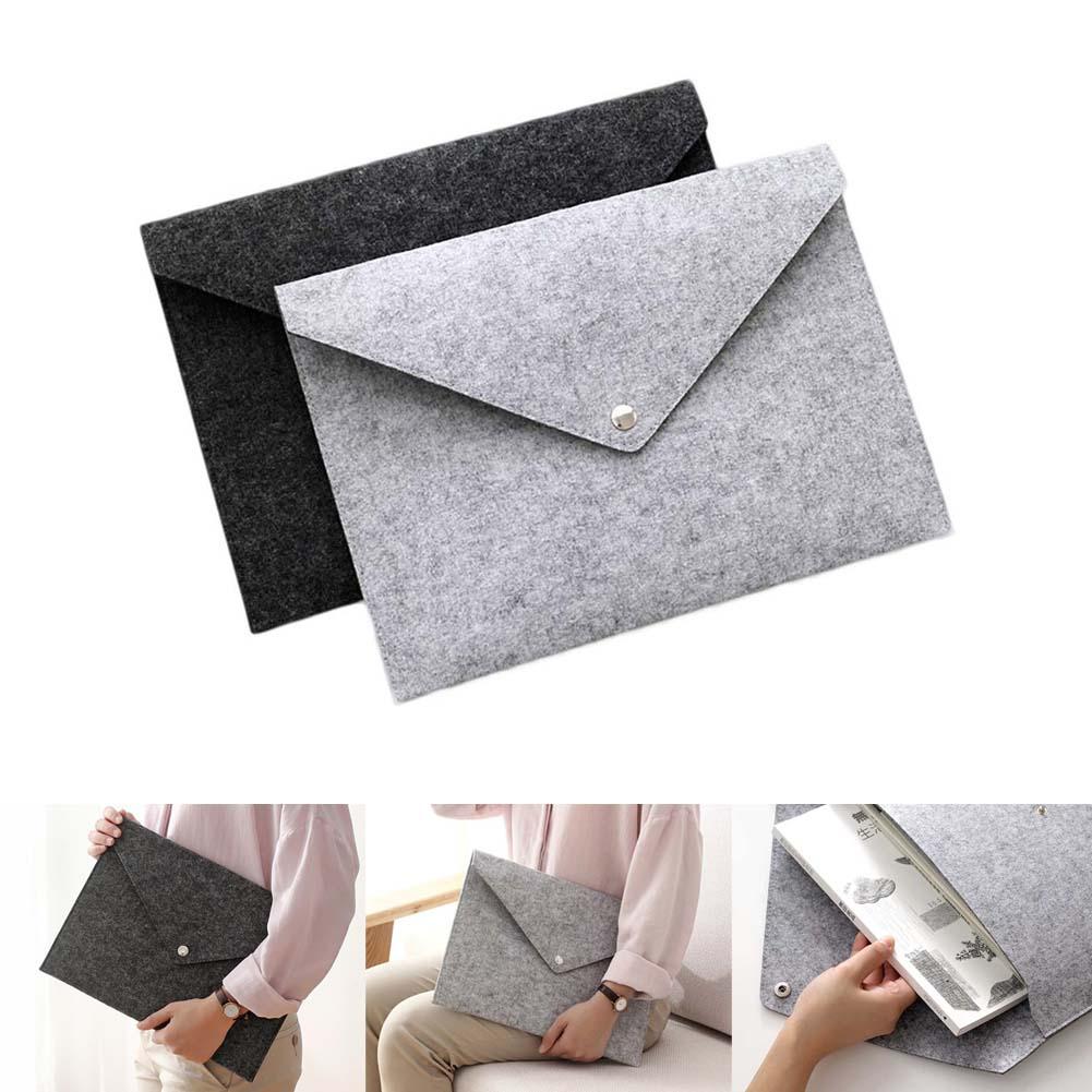 [해외]2019 Wholesale Durable Simple Solid A4 Big Capacity Document Bag Briefcase File Folders Felt Filing Bags Business Traveling Use/2019 Wholesale Dur