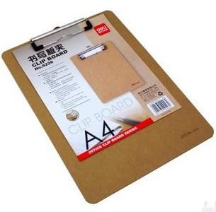 [해외]Deli Wooden Material Writing Board File Organizer A4 Wood Flat Clamp Office Supplies Noteboard File Folder Office Organizers/Deli Wooden