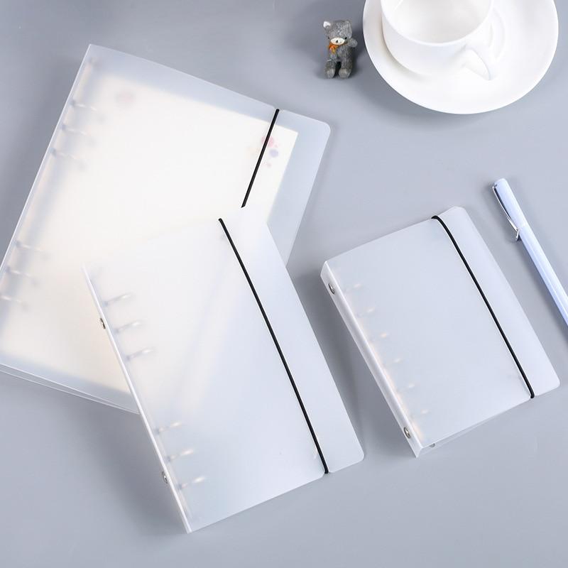 [해외]/Coloffice creative PP plastic Folder frosted filing product notebook stationery book binder folder 6 hole Loose-leaf binder 1pc