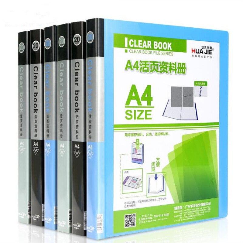 [해외]/A4 Slot Information Booklet Loose-leaf Information Booklet Folder Storage Bag Office Supplies Document Finishing Classification