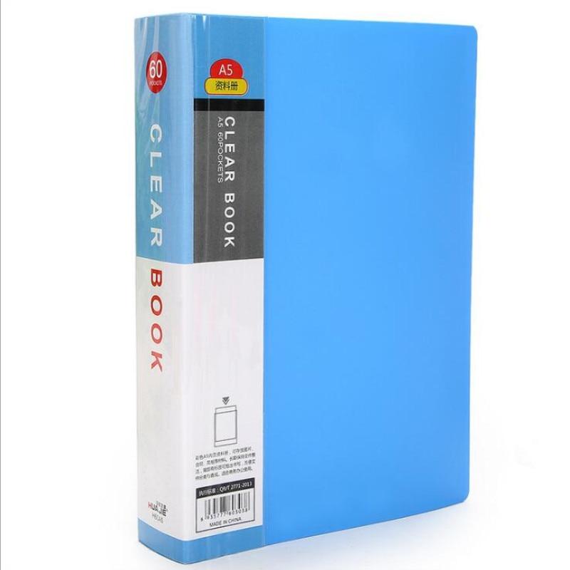 [해외]/A5 20 pages Plastic File list Booklet Insert Folder School Business Office Supplies Folder Plastic Storage Documents Paper Clip