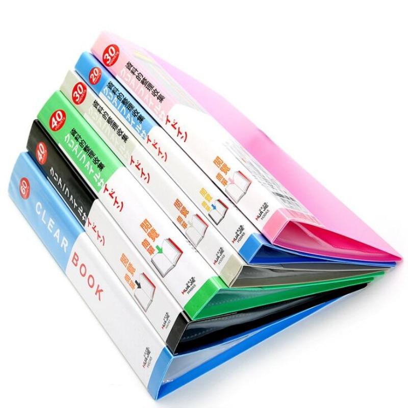[해외]/A5 30 pages Plastic File list Booklet Insert Folder School Business Office Supplies Folder Plastic Storage Documents Paper Clip