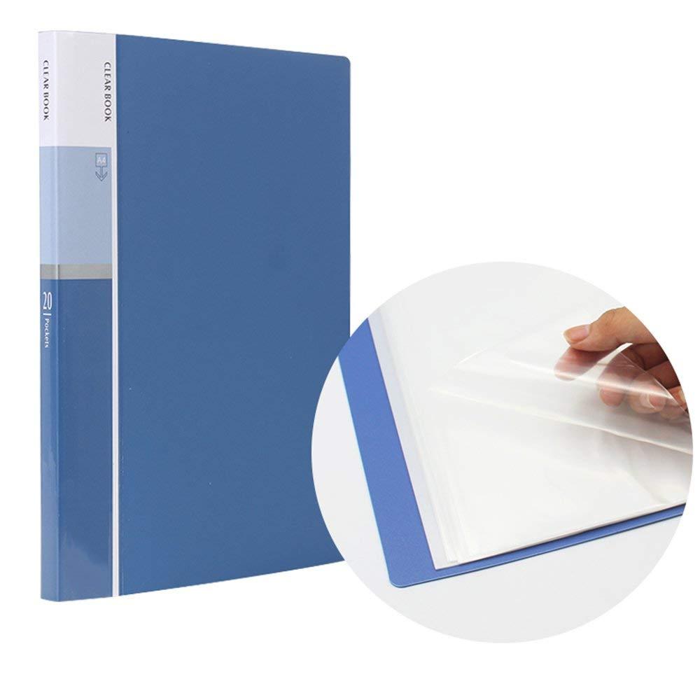 [해외]20Pocket A4 프리젠 테이션 북, 40 페이지 용량 비즈니스 프리젠 테이션 폴더, 프레젠테이션 북 슬리프/20 Pocket A4 Presentation Book, 40 Page Capacity Business Presentation Folders, Pre