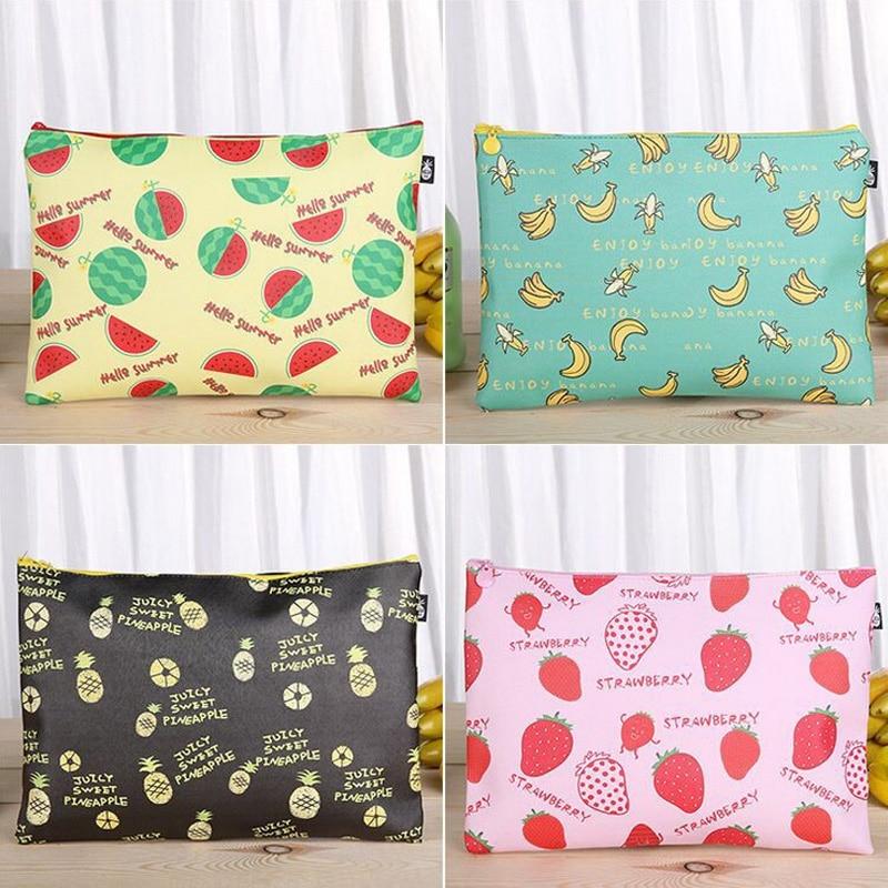 [해외]Fruit file bag pencil case file folder documents filling bag office school suppllies stationery bag/Fruit file bag pencil case file folder documen