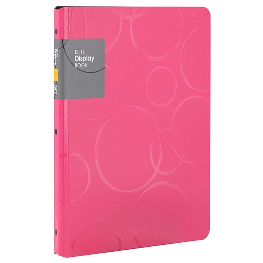 [해외]60 포켓 프리젠 테이션 BookSheet 보호기, A4 크기 비즈니스 프리젠 테이션 폴더 (핑크색)/60 Pockets Presentation BookSheet Protectors, A4 Size Business Presentation Folders (Pink
