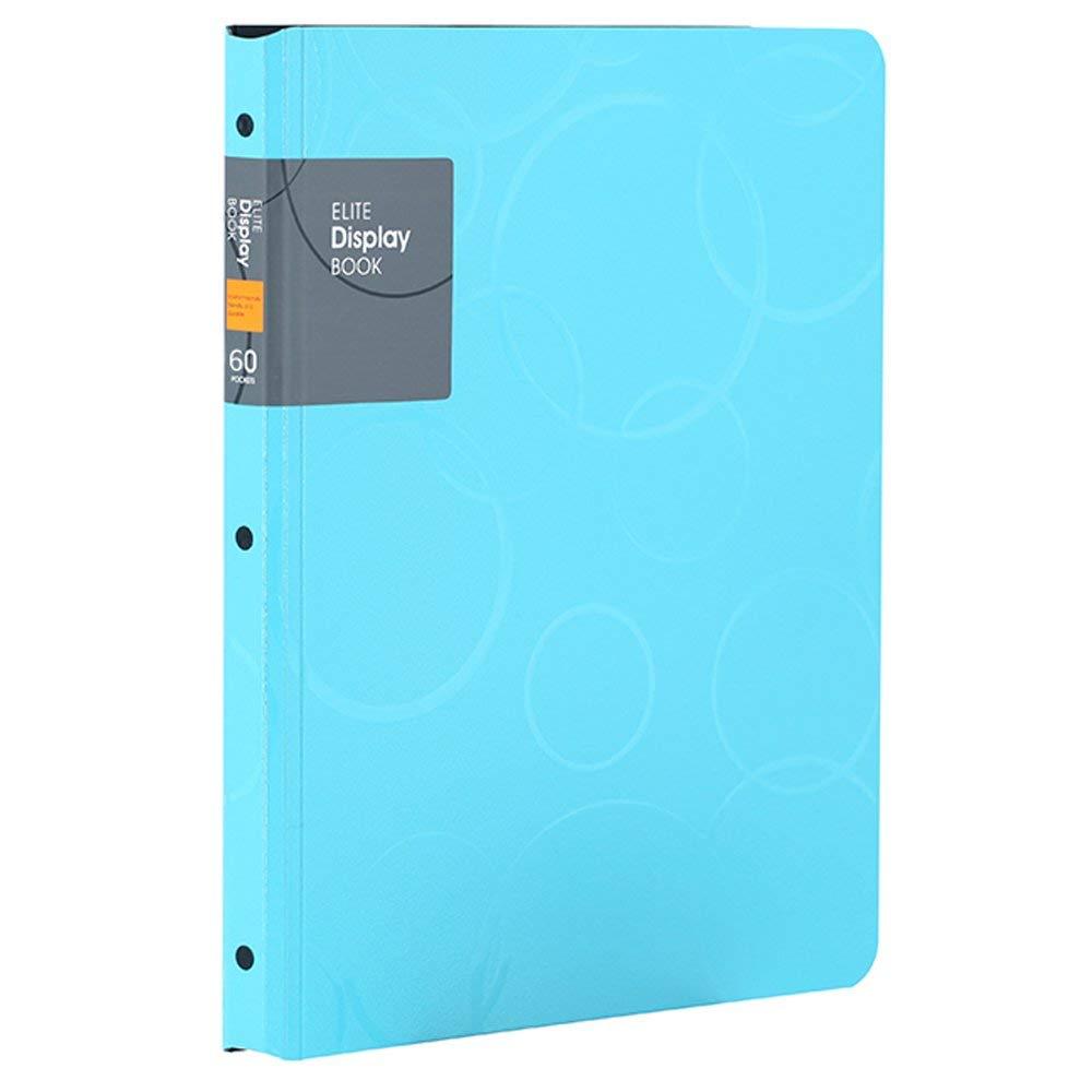 [해외]60 포켓 프리젠 테이션 BookSheet 보호기, A4 크기 비즈니스 프리젠 테이션 폴더 (파란색)/60 Pockets Presentation BookSheet Protectors, A4 Size Business Presentation Folders (Blue