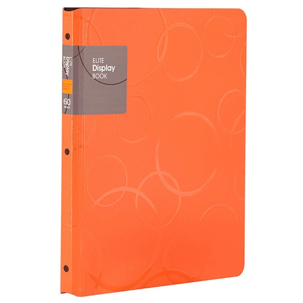[해외]60 포켓 프리젠 테이션 BookSheet 보호기, A4 크기 비즈니스 프리젠 테이션 폴더 (주황색)/60 Pockets Presentation BookSheet Protectors, A4 Size Business Presentation Folders (Oran