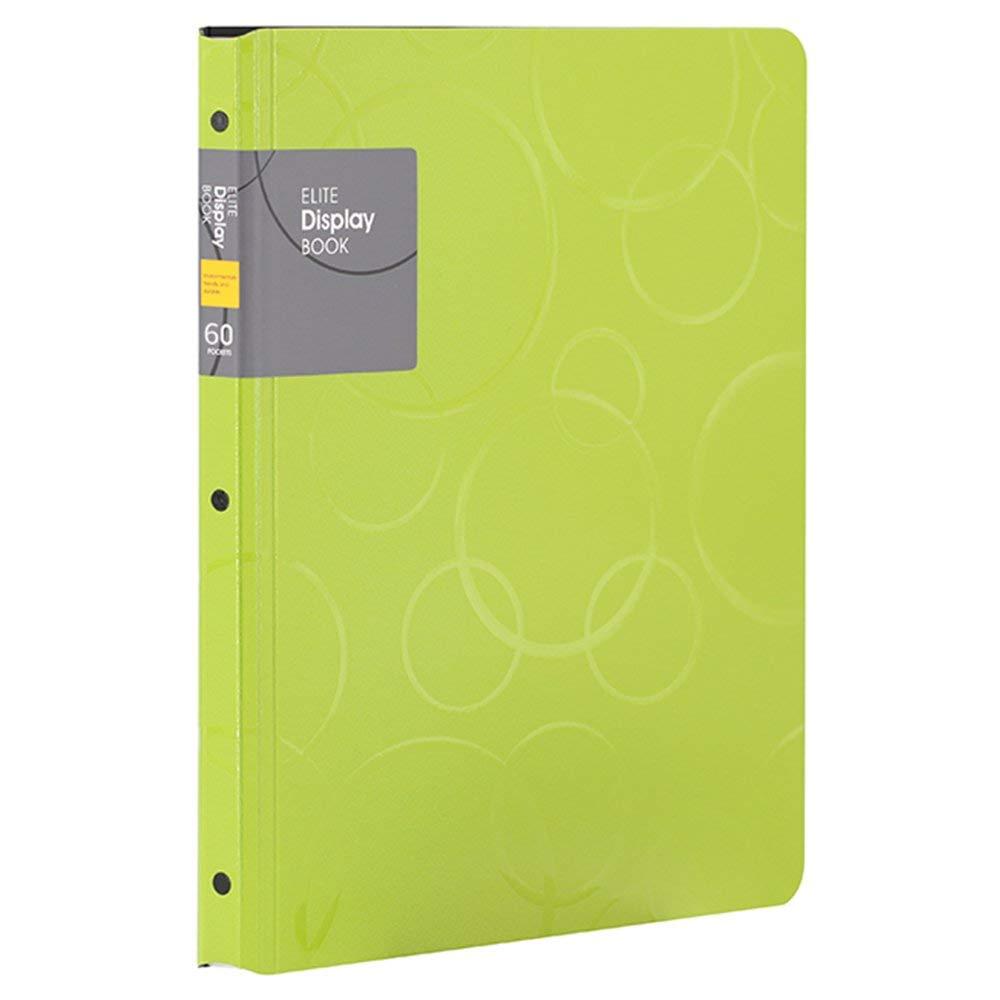 [해외]60 포켓 프리젠 테이션 BookSheet 보호기, A4 크기 비즈니스 프리젠 테이션 폴더 (녹색)/60 Pockets Presentation BookSheet Protectors, A4 Size Business Presentation Folders (Green