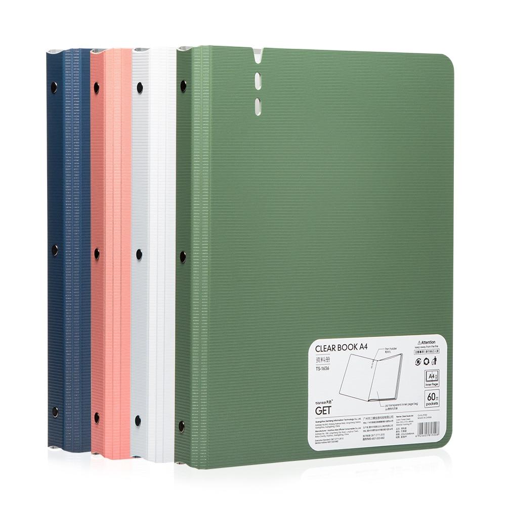 [해외]TIANSE 30 pages Foam folder 1.88mm Polypropylene PP material A4 folder Business Briefcase File Folders (4 colour one set )/TIANSE 30 pages Foam fo