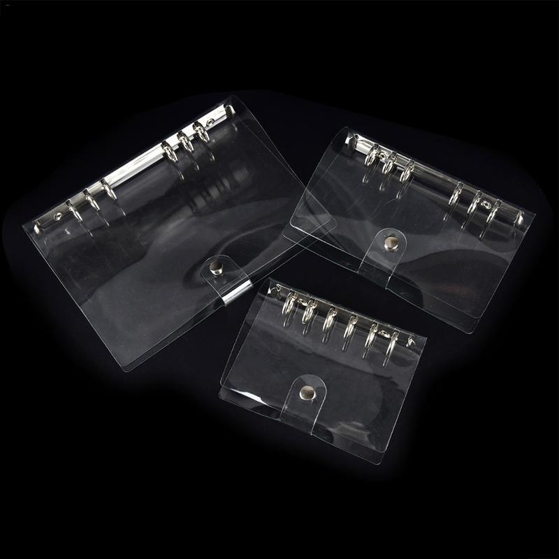[해외]6 구멍 투명 PVC 노트북 커버 프로텍터 반지 바인더 느슨한 리프 폴더 학교 용품 사무 용품/6 Holes Transparent PVC Notebook Cover Protector Ring Binder Loose Leaf Folder School Supplie