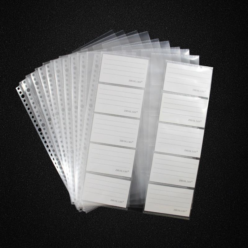 [해외]20 sheets/lot a4 30 홀 루스 리프 카드 컬렉션 백, 클리어 백 시트 프로텍터/20 sheets/lot a4 30 홀 루스 리프 카드 컬렉션 백, 클리어 백 시트 프로텍터