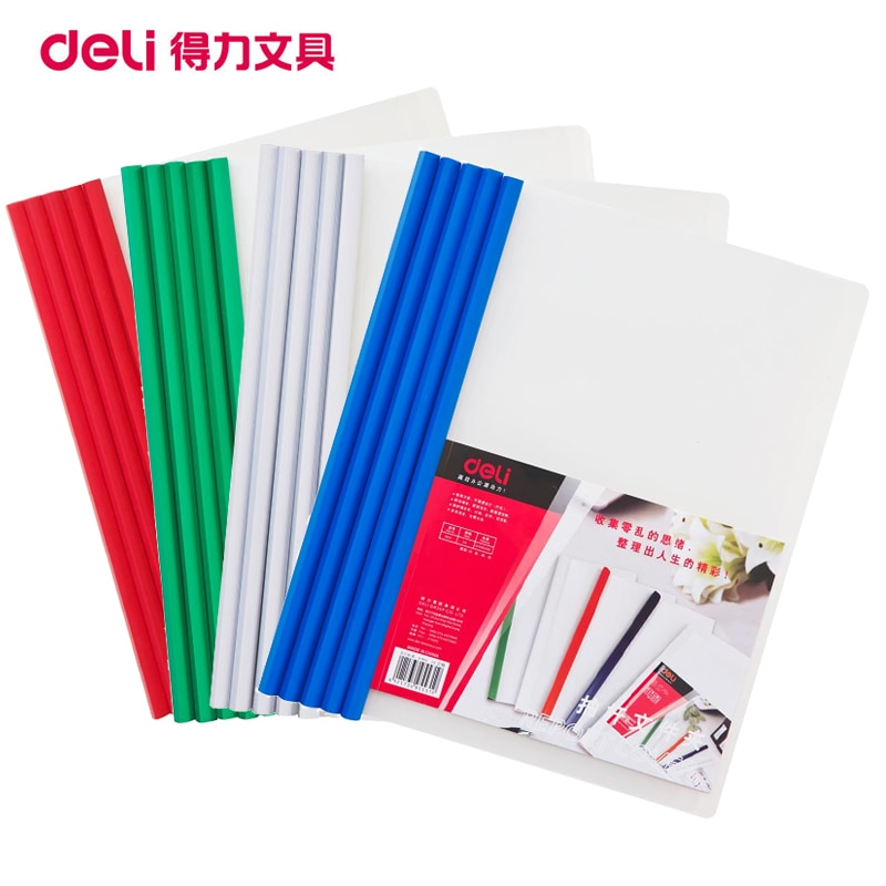 [해외]5pcs/lot Deli A4 document Folder Office Supplies stationery School supplies Folder PP Storage Documents Paper report Clip/5pcs/lot Deli