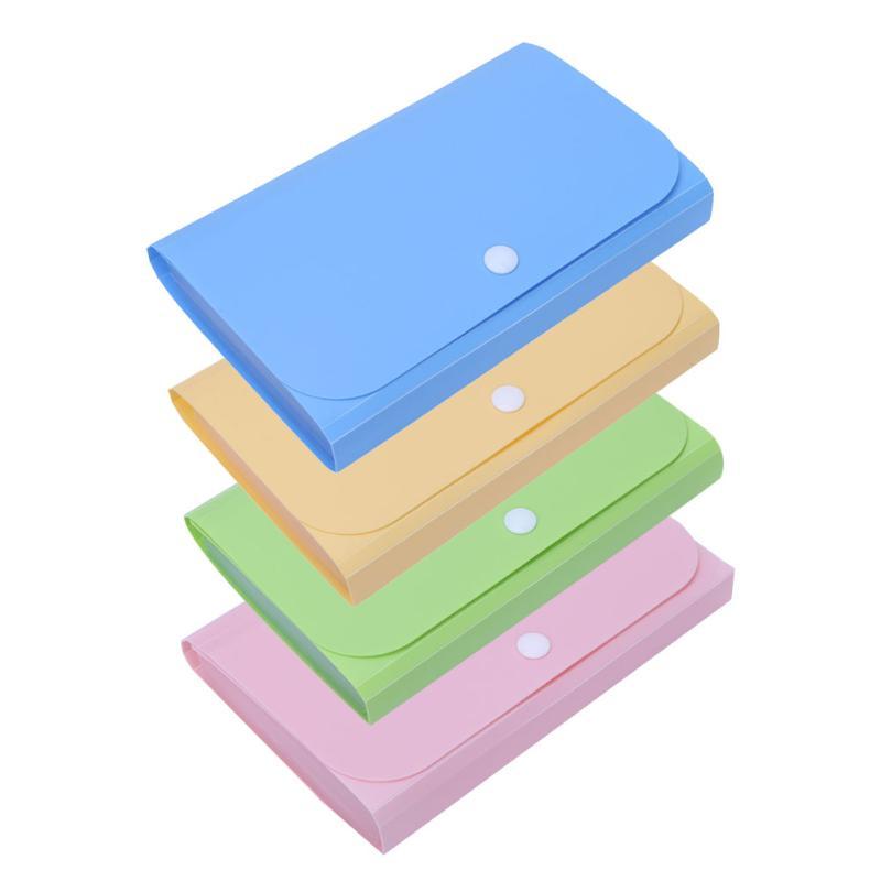 [해외]Office Plastic Candy Color File Folder Small Mini Document Bag Expanding Wallet Bill Receipts Folders Case Fichario Escolar/Office Plastic Candy C