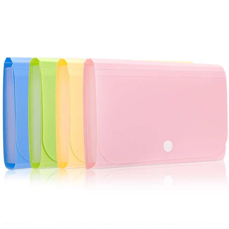 [해외]Candy Color A6 Document Bag Colorful Accordion Style Folder Bag For Paper Bills Receipt File Organizer Supply Office File Holder/Candy C