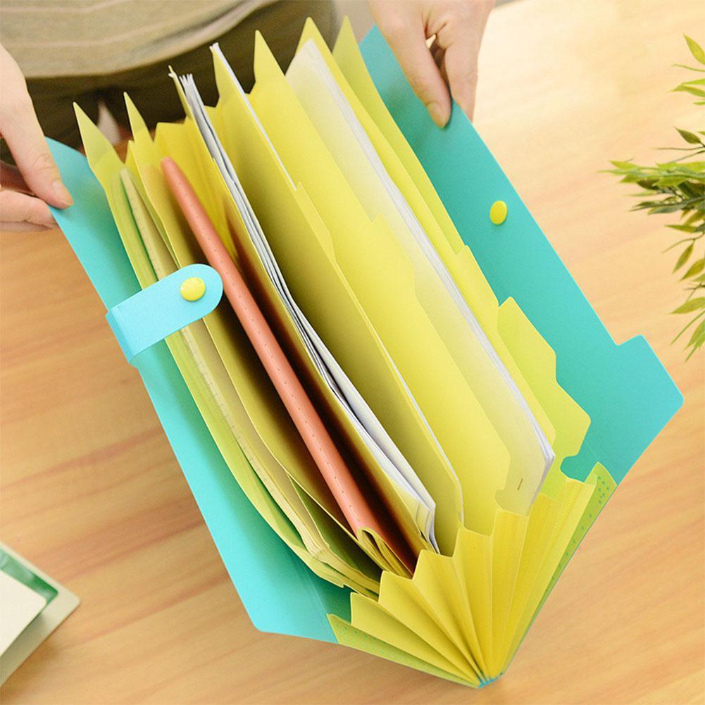 [해외]확장 가능한 문서 파일 폴더 주최자 8 포켓 폴더 A4 크기 스냅 버튼 폐쇄 r60