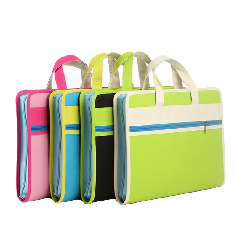 [해외]Creative organ bag multi-layer folder Oxford cloth a4 portable zipper information briefcase paper bag/Creative organ bag multi-layer fol
