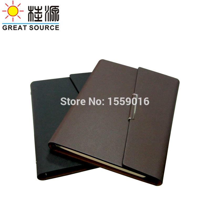 [해외]Great Source Leather Document Folder Folding Cover Ring Binder For A5 Planner W/Organizer Bag Color Stickers and Soft Ruler/Great Source Leather D