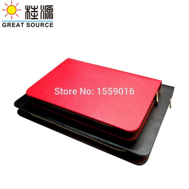 [해외]Leather Notebook Folder Zipper Binder Portfolio For B5 Agenda Planner /Leather Notebook Folder Zipper Binder Portfolio For B5 Agenda Planner