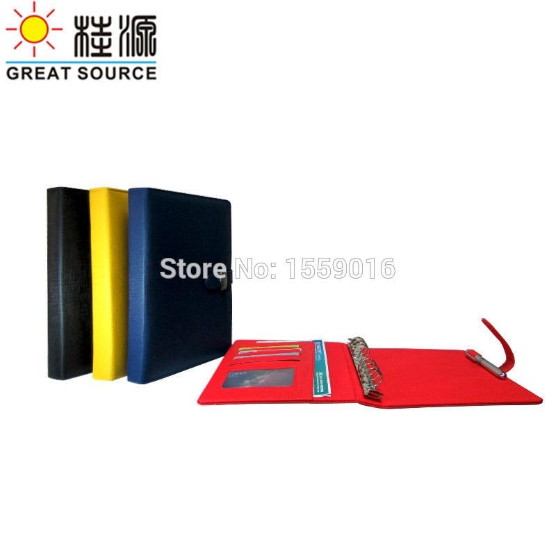 [해외]Ring Binder Folder A5 padfolio Folder For A5 Planner NotebookOrganizer Bag Colorful Stickers and Soft Ruler/Ring Binder Folder A5 padfolio Folder