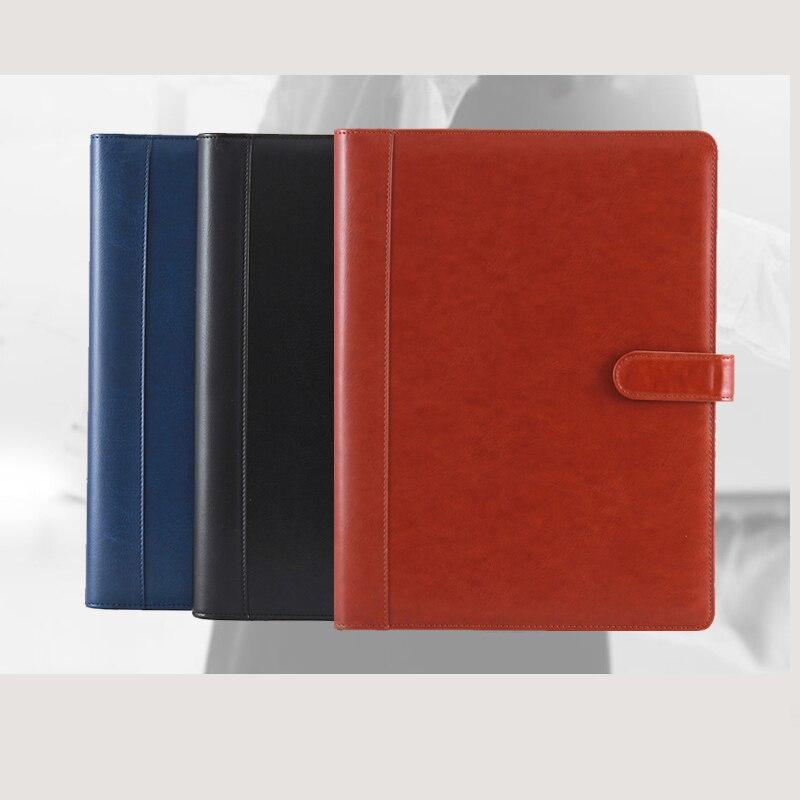 [해외]Vintage A4 PU Leather Padfolio Men Business Management Contract Clasp Lock Document Bag Manager File Folder Briefcase 1199b/Vintage A4 PU Leather