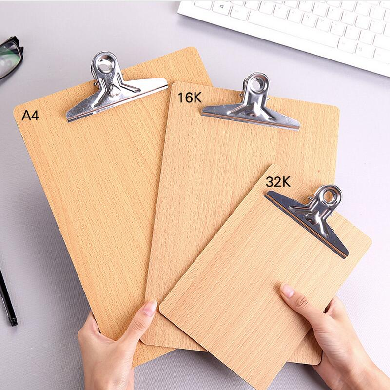 [해외]A4/16 k/32 k 크기 폴더 패드 나무 클립 보드 파일 폴더 고정 보드 하드 보드 쓰기 플레이트 클립 보고서 사무 용품/A4/16 k/32 k 크기 폴더 패드 나무 클립 보드 파일 폴더 고정 보드 하드 보드 쓰기 플레이트 클립 보고서 사무