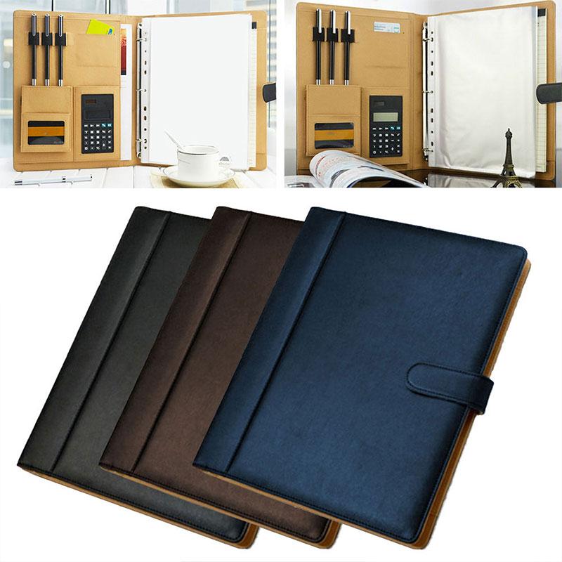 [해외]8 패킷 파일 폴더 a4 pu 링 바인더 디스플레이 노트북 폴더 계산기 문서 가방 주최자 비즈니스 사무 용품/8 패킷 파일 폴더 a4 pu 링 바인더 디스플레이 노트북 폴더 계산기 문서 가방 주최자 비즈니스 사무 용품