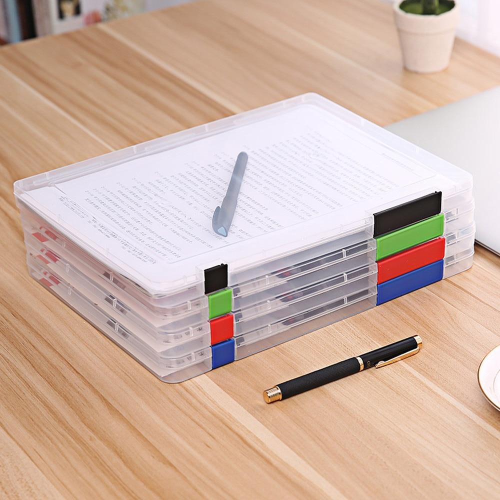[해외]A4 투명한 저장 상자 투명 플라스틱 문서 용지 필링 파일 Studpends 또는 회사원을세련된 문서 케이스 A30/A4 Transparent Storage Box Clear Plastic Document Paper Filling Case File Stylish