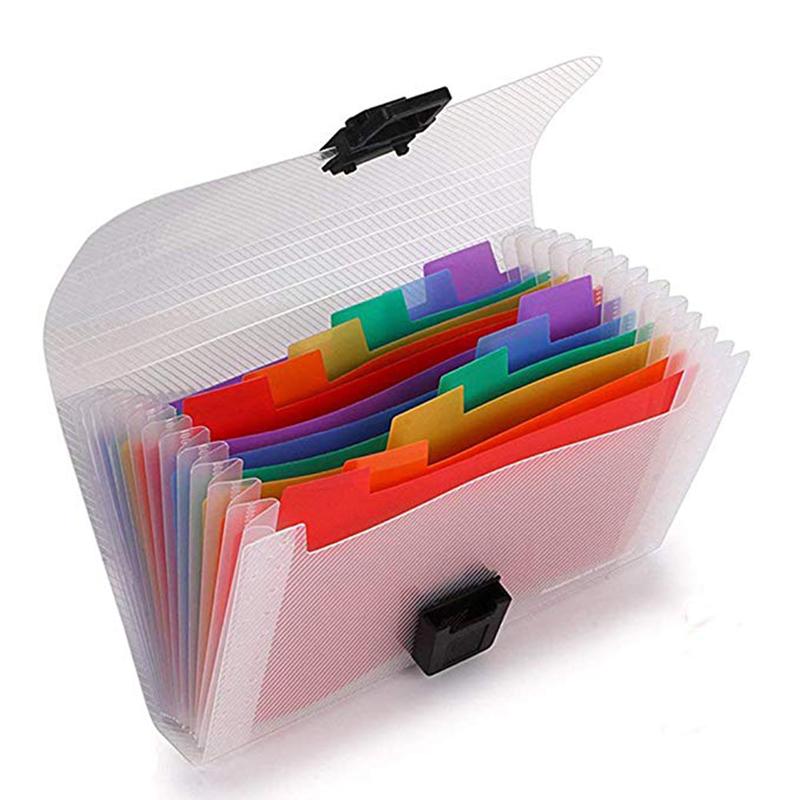 [해외]Ekind 7x4.5 아코디언 확장 가능한 휴대용 폴더, 13 포켓 accordian 파일 주최자, a6 플라스틱 지갑 미니 확장 폴더/Ekind 7x4.5 아코디언 확장 가능한 휴대용 폴더, 13 포켓 accordian 파일 주최자, a6 플
