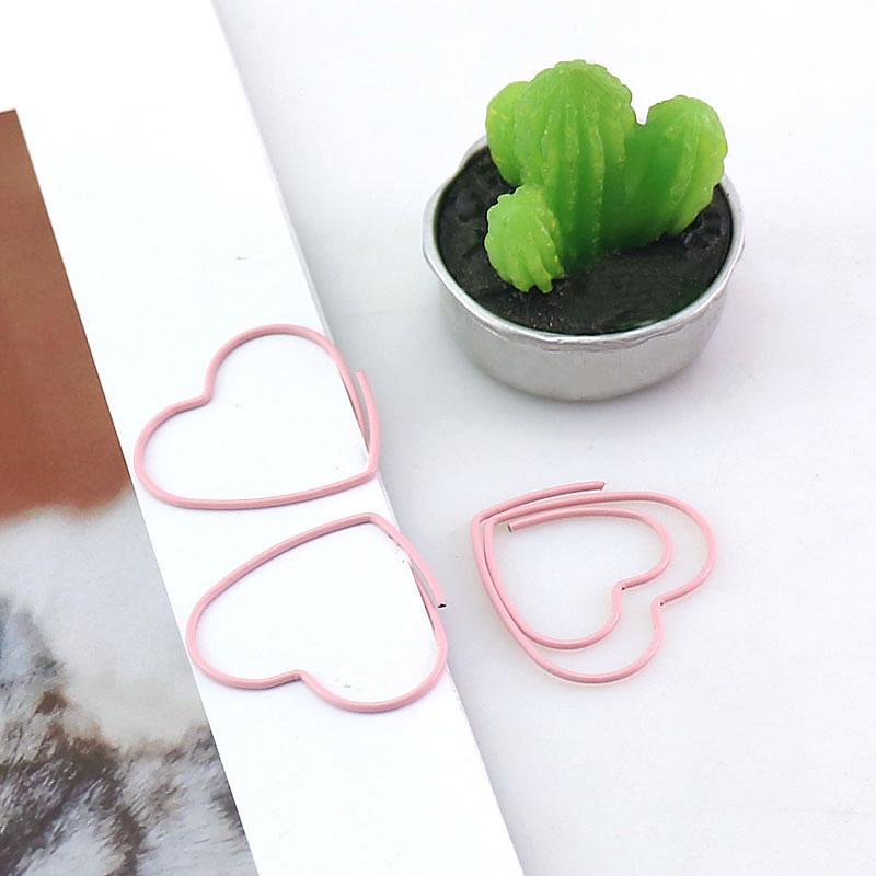 [해외]25 개/상자 새로운 귀여운 핑크 러브 하트 디자인 사무실 학교 종이 클립 편지지, 캔디 학생 북마크/25 개/상자 새로운 귀여운 핑크 러브 하트 디자인 사무실 학교 종이 클립 편지지, 캔디 학생 북마크